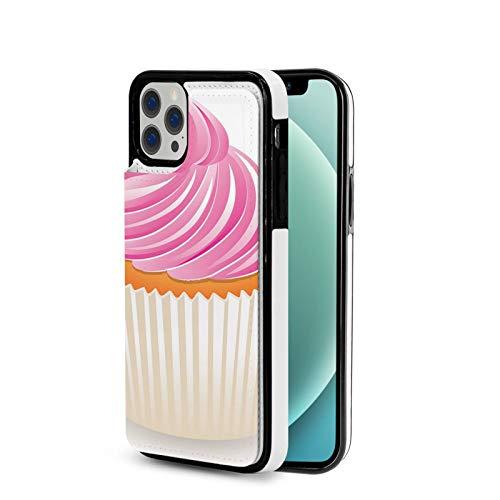 KAIXIN Funda para iPhone 12, diseño de cupcakes, color rosa