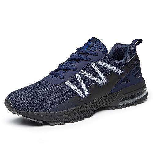 FITORY Laufschuhe Turnschuhe für Herren Damen Atmungsaktiv Sportschuhe Outdoor Gym Straßenlaufschuhe Leichtgewichts-Sneaker Navy Blau Gr.38