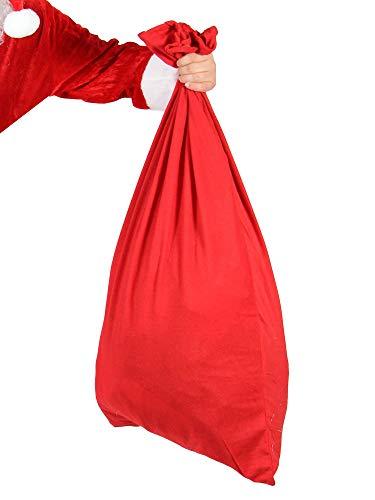 Foxxeo roter XXL Nikolaussack Sack für Geschenke Weihnachtsmann Sack Größe 100x60cm