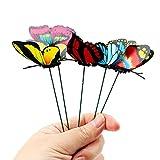 XINXI-YW Conveniente 25 PC / 5Bunches de Mariposas Yarda del jardín del plantador Colorido caprichoso Mariposa estacas Decoracion Decoración de Exteriores Macetas Decorativo