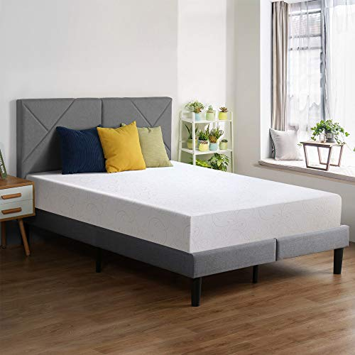 PrimaSleep 11 Inch Dura Gel Deluxe Comfort Memory Foam, Queen Mattress, White
