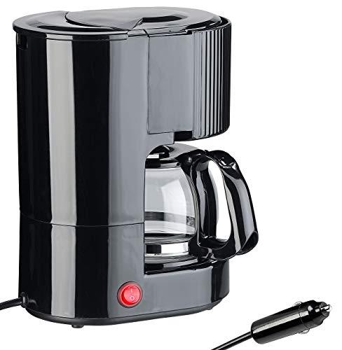Rosenstein & Söhne 24V Kaffeemaschine: LKW-Filterkaffee-Maschine, bis zu 3 Tassen, 650 ml, 24 Volt, 300 Watt (LKW Kaffeemaschine 24V)