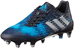 A black and blue Adidas Predator Malice Control rugby boot