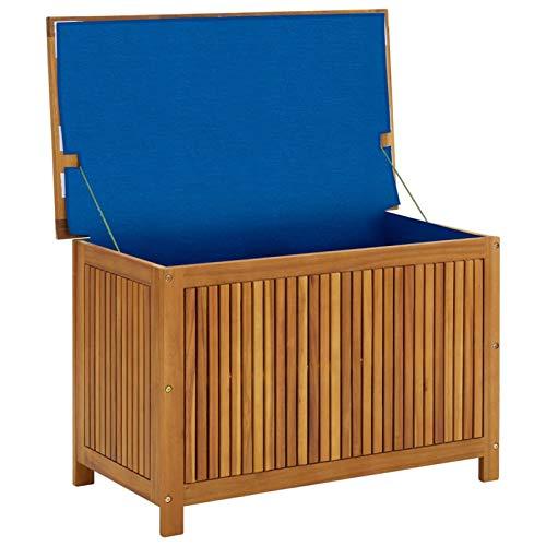 Festnight Boîte de Rangement en Bois Boîte de Jardin Extérieur ou Intérieur 90x50x106 cm
