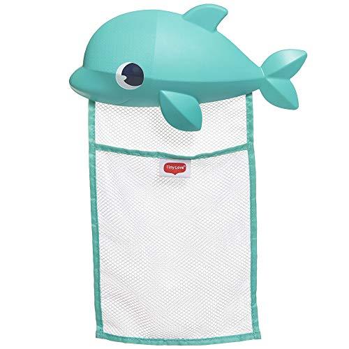 Tiny Love Bath Toy Organizer, Aufbewahrung für Badespielzeug, Bad Spielzeug einfach und schnell im niedlichen Delphin Netz verstauen, sicherer Halt dank starker Saugnäpfe, mehrfarbig, 3333165011