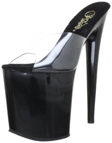 Pleaser EU-FLAMINGO-801 - Sandalias de Material sintético Mujer, Color Transparente, Talla 38