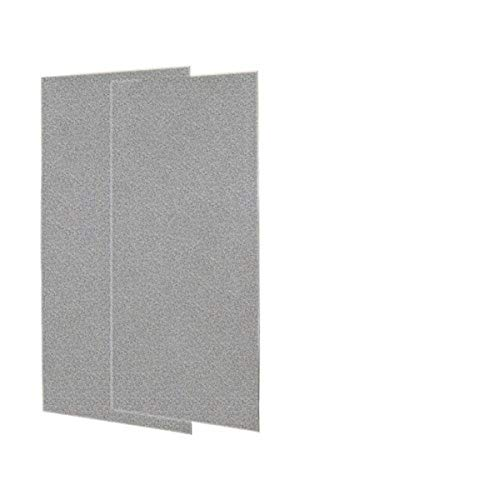 shower wall materials Swanstone SS-3696-2-042 Solid Surface Glue-Up 2-pieces Shower Wall Panel, 0.25-in L X 36-in H X 96-in H, Gray Granite