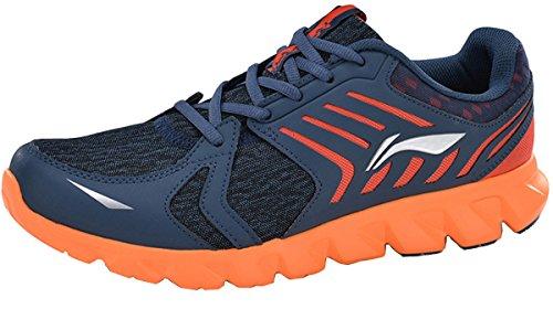 LI-NING Men's ARC Element Running Shoes Light Weight Sport Sneakers Cushion Shoes Blue US 11