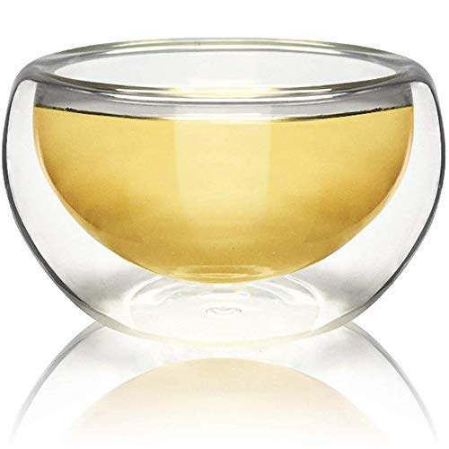 Teaology Luna Double Wall Borosilicate Tea/Espresso Cup
