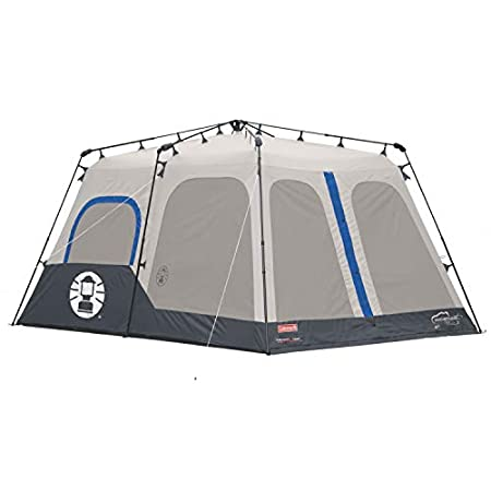 Coleman 8 person instant up tent - the rain fly is integrated here.