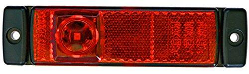 HELLA 2TM 008 645-921 Begrenzungsleuchte - LED - 12V - Lichtscheibenfarbe: rot - Anbau - Kabel: 5000mm - Einbauort: links/rechts