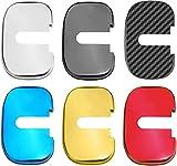 4 Uds Cubierta Cerradura Puerta Coche, para Chevrolet CaptivaTrax Equinox Cavalier Cruze Malibu, Cubierta de Cerradura de Puerta Anticorrosión Protección Interior Accesorios