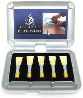 G1 Platinum Scottish Highland Bagpipe Chanter Reeds, Set of 5 in Deluxe Box 2 Easy 2 Easy Plus 1 Medium
