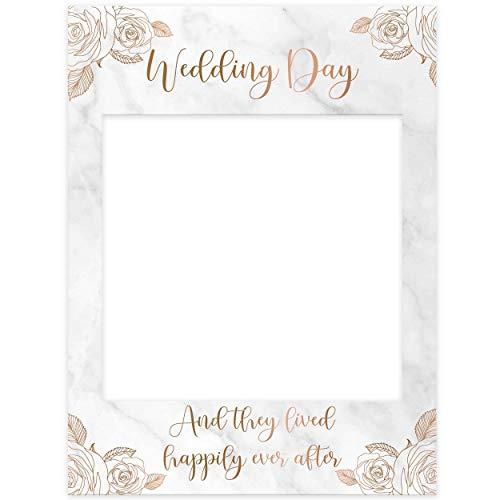 Paper Themes Selfie-Bilderrahmen für Junggesellinnenabschiede, Hochzeiten und Geburtstage für Posts auf Instagram oder Facebook, 535 x 710 mm, starre Corex-Platte, Marmorblumen