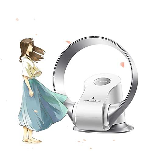 YSJX Ventilador de Pared Sin Aspas,Ventilador de Mesa, Ventilador de Escritorio silencioso,con Control Remoto, Ventilador de Pedestal para Dormitorio de Oficina en casa (Color : Silver)