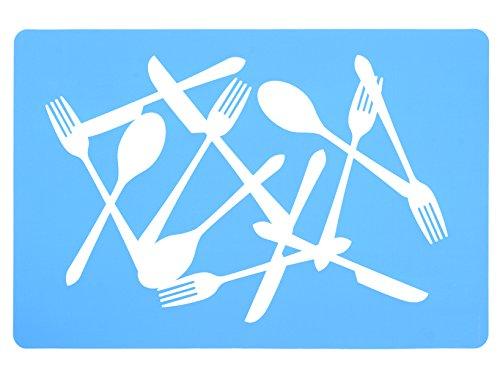 HOME Selectionnées 12 Napperons Pvc Bleu De Linge De Table 43X28 ??Cm