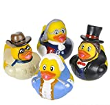 "2""S HISTORICAL FIGURE RUBBER DUCKIES"