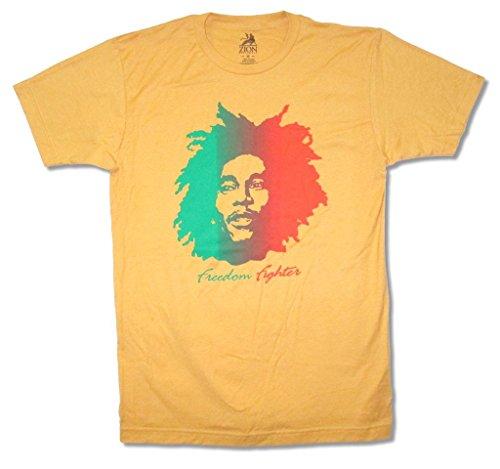 Bob Marley Freedom Fighter Men's Yellow T Shirt (S)