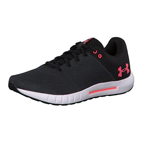 Under Armour Women's Micro G Pursuit Running Shoe, Black (001)/Anthracite, 5