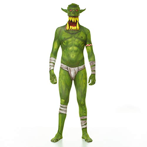 Morphsuits Men's Jaw Dropper Costume, Orc Green, Medium