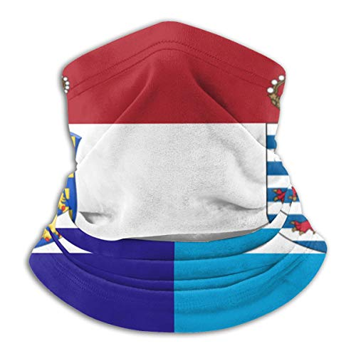 ASE Polvo Hombres Mujeres Bufanda facial para deportes al aire libre Cuello Polaina Cubierta Pañuelo mágico Bandana, Holanda Luxemburgo Bandera