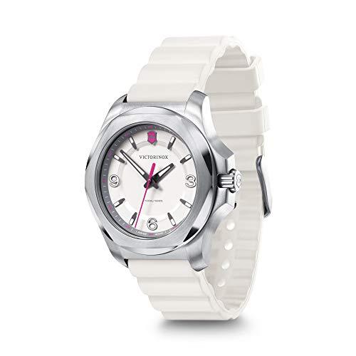 Victorinox I.N.O.X. V 241921 - Reloj para mujer con esfera blanca y correa de goma blanca