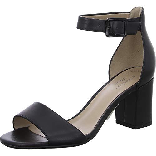 Clarks Deva Mae, Scarpe con Cinturino alla Caviglia Donna, Nero (Black Leather-), 40 EU