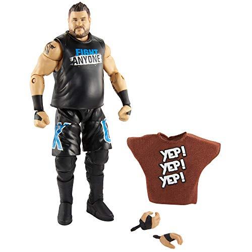 WWE Elite Figura de acción Luchador Kevin Owens™, Juguetes niños +8 años (Mattel GCL34)