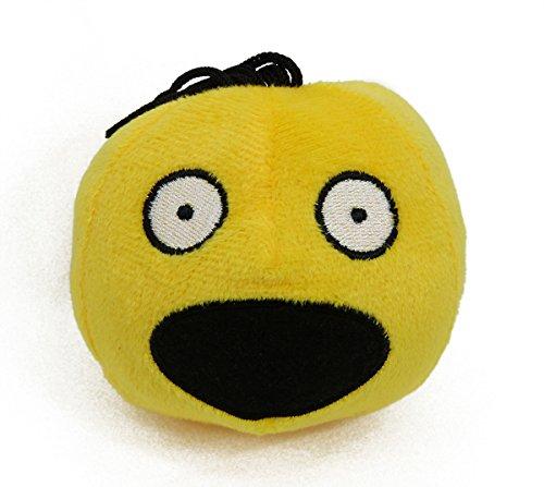 TrachtExemplar Süßer Smiley aus Plüsch - Emote / Emoji Ball - Emoticon mit passendem Sound zum Gesichtsausdruck (Erschrocken)