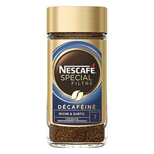 Nescafé Spécial Filtre Décaféiné - Café Soluble - Flacon de 200g