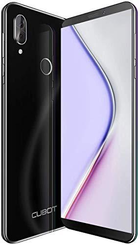 X19 CUBOT 4G Smartphone Libre 2019 Android 9.0 Teléfono móvil sin contactos 5,93 Pulgadas FHD+(2160x1080px) Dual Sim 64GB ROM 4GB RAM Dual Cámara Octa-Core Procesador WiFi GPS 4000mAh Negro