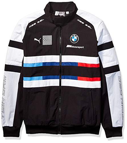 PUMA Mens BMW M Motorsport Street Woven Jacket, Puma Black, L