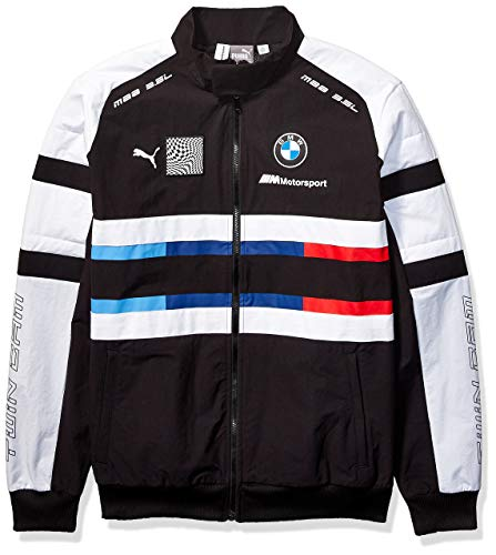 PUMA Mens BMW M Motorsport Street Woven Jacket, Puma Black, S