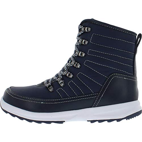 Khombu Womens Elsa Cold Weather Waterproof Winter Boots Navy 6 Medium (B,M)