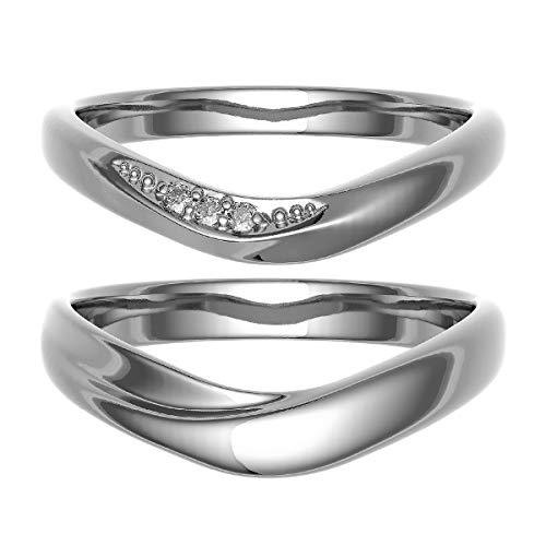 [ココカル]cococaru ペアリング 結婚指輪 K10ゴールド 2本セット マリッジリング ダイヤモンド 日本製(レディースサイズ19号 メンズサイズ20号)