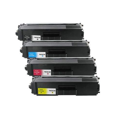 4 Bubprint Toner kompatibel für Brother TN-326 TN-326BK TN-326C TN-326M TN-326Y für DCP-L8400CDN DCP-L8450CDW HL-L8250CDN HL-L8350 HL-L8350CDW MFC-L8650CDW MFC-L8850CDW Set