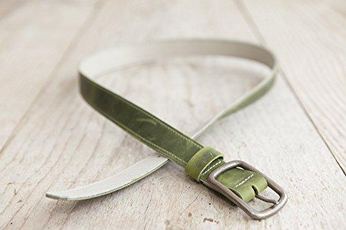 grüner Ledergürtel, Wendegürtel, Gürtel aus echtem Leder, handgefertigt in Bayern