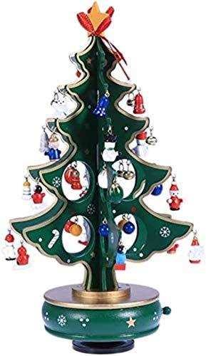 Caja de joyería musical, caja de música portátil, Regalos musicales, Cumpleaños, presentación de música, caja de música, árbol de Navidad con ornamentos colgantes, caja de música, decoraciones de fies