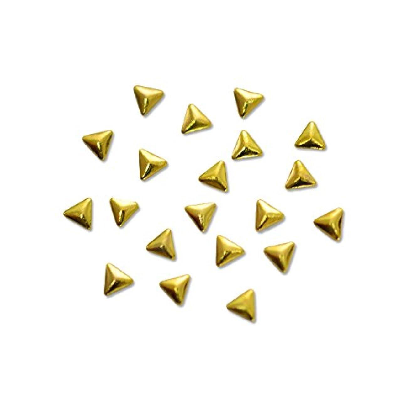 寺院回復聴衆メタルスタッズ トライアングル 2mm ゴールド 20pic/小さい三角形のメタルパーツ