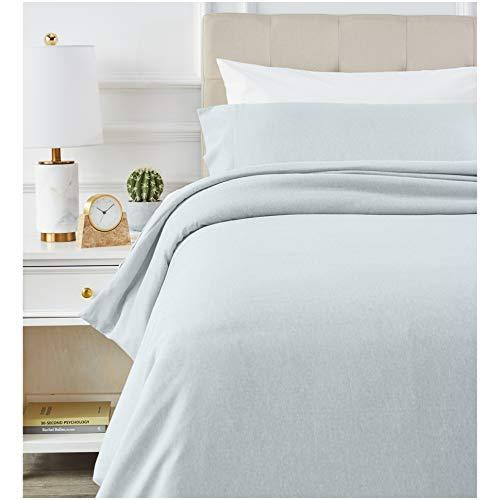 Amazon Basics - Juego de ropa de cama con funda de edredón, de microfibra, 135 x 200 cm, Azul (Cool Aqua)