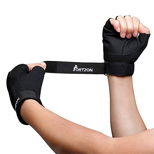 spri workout gloves Portzon Weight Lifting Gloves, Workout Gloves for Men & Women, Anti-Slip Gym Gloves with Wrist Strap, type 2, type 2 (Gymnastics Grips)