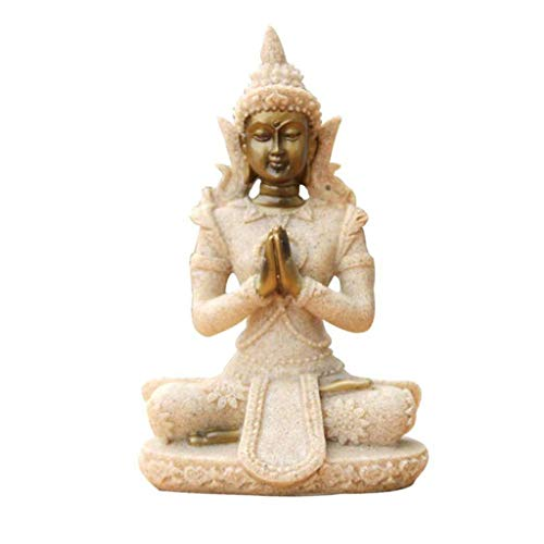 Hh001 Meditación Estatua de Buda Esculturas Decoración para el hogar Adornos Regalos creativos Sudeste asiático Decorativo Pequeña Religión Escultura ( Color : B )