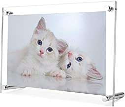 Acrylic Photo Frame with Gift Box Package. Free Standing/Tabletop Display - Modern, Stylish & Transparent. Organize and Pr...