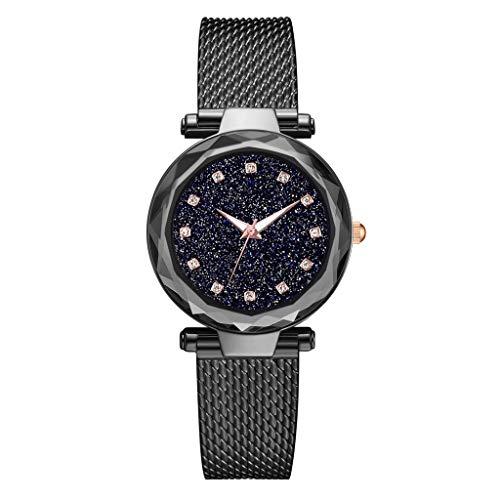 TWISFER Luxury Damenuhr Mode Starry Sky Uhr mit Mesh Edelstahl Band Elegance Damen Armbanduhr Elegantes Geschäftskleid Analoge Quarz Armbanduhr