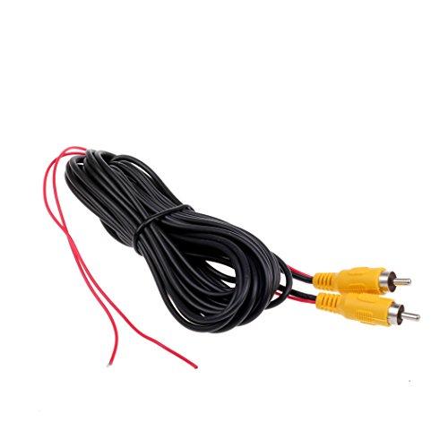 Câble vidéo RCA HitCar pour caméra de recul de voiture avec fil de détection Male To Male 6 Meters