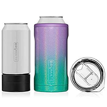 BrüMate HOPSULATOR TRíO 3-in-1 Stainless Steel Insulated Can Cooler Works With 12 Oz 16 Oz Cans And As A Pint Glass  Mermaid