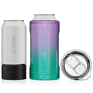 BrüMate HOPSULATOR TRÍO 3 en 1 enfriador de latas de acero inoxidable aislado, funciona con latas de 12 oz, 16 oz y como un vaso de pinta