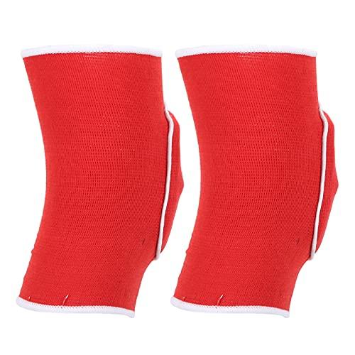 Voluxe Rodillera, diseño de cojín para Rodillas con Manga de Rodilla con Alto Rendimiento para Mujeres para Correr(Rojo)