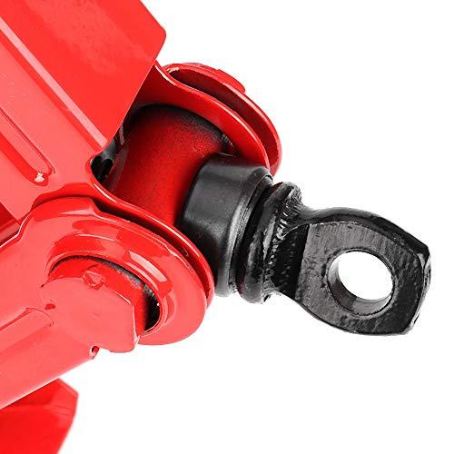 Fishawk Gato Elevador Rojo, Gato para automóvil, para reparación de Llantas de automóvil, Cambio de Llantas de automóvil, Accesorio automotriz