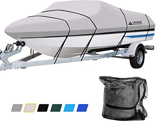 Leader Accessories 600D Polyester Runabout Boat Cover (Model E: 20'-22'L Beam Width up to 100'',...